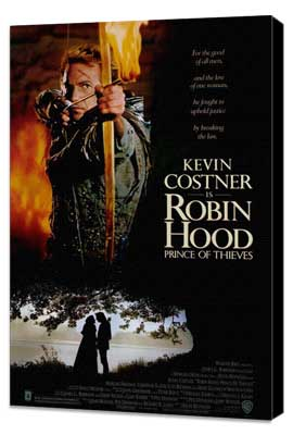 Robin Hood: Prince of Thieves - 27 x 40 Movie Poster - Style A - Museum Wrapped Canvas