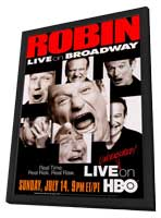 Robin Williams: Live on Broadway - 27 x 40 Movie Poster - Style A - in Deluxe Wood Frame