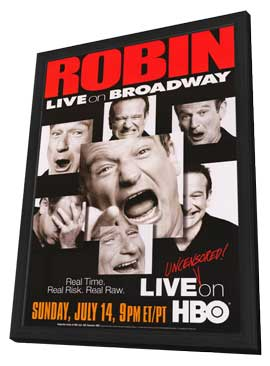 Robin Williams: Live on Broadway - 11 x 17 Movie Poster - Style A - in Deluxe Wood Frame