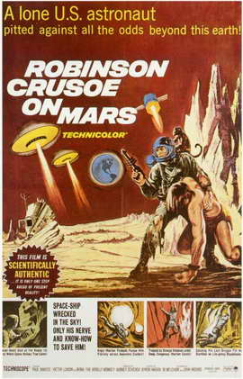 Robinson Crusoe on Mars - 11 x 17 Movie Poster - Style A