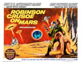 Robinson Crusoe on Mars - 22 x 28 Movie Poster - Half Sheet Style A