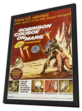 Robinson Crusoe on Mars - 11 x 17 Movie Poster - Style A - in Deluxe Wood Frame