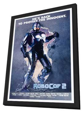 RoboCop 2 - 27 x 40 Movie Poster - Style C - in Deluxe Wood Frame