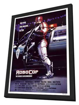 RoboCop - 27 x 40 Movie Poster - Style A - in Deluxe Wood Frame