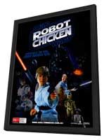 Robot Chicken: Star Wars - 27 x 40 Movie Poster - Australian Style A - in Deluxe Wood Frame