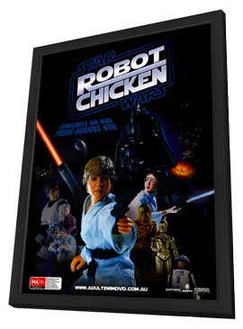 Robot Chicken: Star Wars - 11 x 17 Movie Poster - Australian Style A - in Deluxe Wood Frame