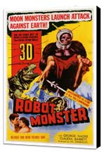Robot Monster - 27 x 40 Movie Poster - Style A - Museum Wrapped Canvas