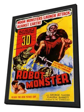 Robot Monster - 11 x 17 Movie Poster - Style A - in Deluxe Wood Frame