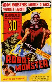 Robot Monster - 11 x 17 Movie Poster - Style A - Museum Wrapped Canvas