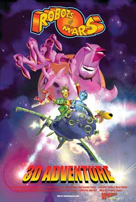 Robots of Mars 3D Adventure - 11 x 17 Movie Poster - Style A