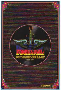 Rock and Roll 50th Anniversary - Music Poster - 24 x 36 - Style A