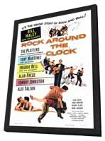 Rock Around the Clock - 27 x 40 Movie Poster - Style A - in Deluxe Wood Frame