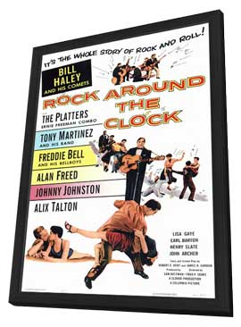 Rock Around the Clock - 11 x 17 Movie Poster - Style A - in Deluxe Wood Frame