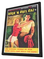 Rock n' Roll Gal - 11 x 17 Retro Book Cover Poster - in Deluxe Wood Frame