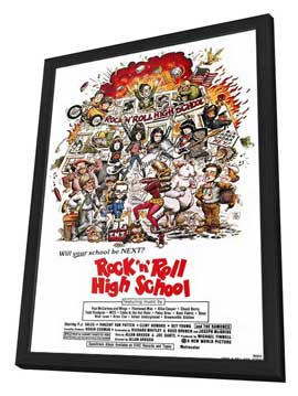 Rock 'n' Roll High School - 11 x 17 Movie Poster - Style A - in Deluxe Wood Frame