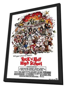Rock 'n' Roll High School - 27 x 40 Movie Poster - Style A - in Deluxe Wood Frame