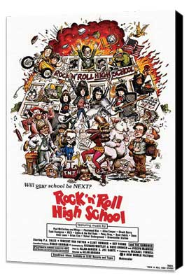 Rock 'n' Roll High School - 27 x 40 Movie Poster - Style A - Museum Wrapped Canvas