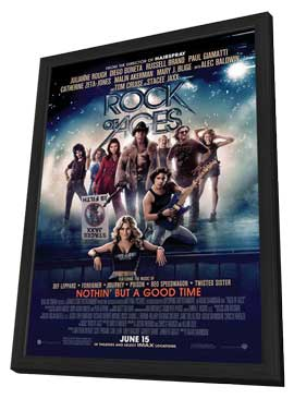 Rock of Ages - 11 x 17 Movie Poster - Style A - in Deluxe Wood Frame