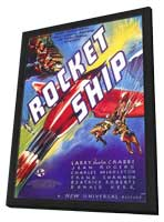 Rocketship - 11 x 17 Movie Poster - Style A - in Deluxe Wood Frame