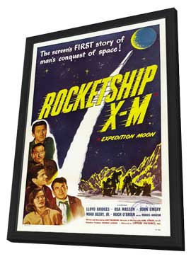 Rocketship X-M - 11 x 17 Movie Poster - Style A - in Deluxe Wood Frame