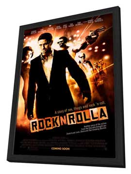 Rocknrolla - 27 x 40 Movie Poster - Style A - in Deluxe Wood Frame