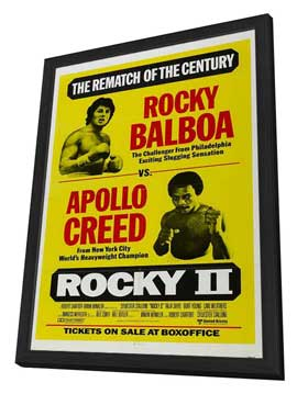 Rocky 2 - 11 x 17 Movie Poster - Style A - in Deluxe Wood Frame