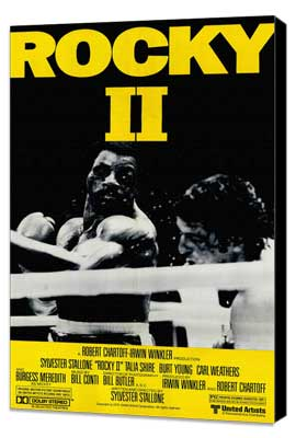 Rocky 2 - 11 x 17 Movie Poster - Style B - Museum Wrapped Canvas