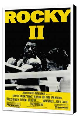 Rocky 2 - 27 x 40 Movie Poster - Style D - Museum Wrapped Canvas