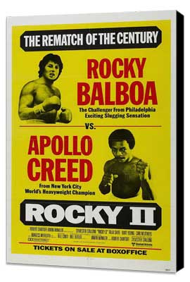 Rocky 2 - 27 x 40 Movie Poster - Style E - Museum Wrapped Canvas