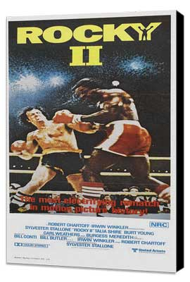 Rocky 2 - 14 x 36 Movie Poster - Insert Style A - Museum Wrapped Canvas