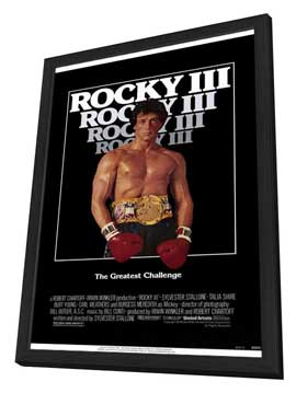 Rocky 3 - 11 x 17 Movie Poster - Style A - in Deluxe Wood Frame