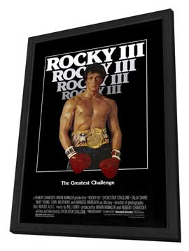 Rocky 3 - 27 x 40 Movie Poster - Style A - in Deluxe Wood Frame