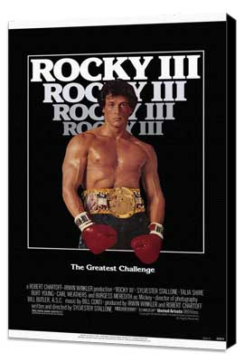 Rocky 3 - 11 x 17 Movie Poster - Style A - Museum Wrapped Canvas