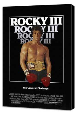 Rocky 3 - 27 x 40 Movie Poster - Style A - Museum Wrapped Canvas