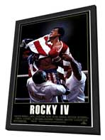Rocky 4 - 27 x 40 Movie Poster - Style A - in Deluxe Wood Frame