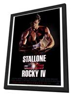 Rocky 4 - 27 x 40 Movie Poster - Style B - in Deluxe Wood Frame