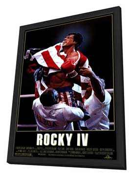 Rocky 4 - 11 x 17 Movie Poster - Style A - in Deluxe Wood Frame