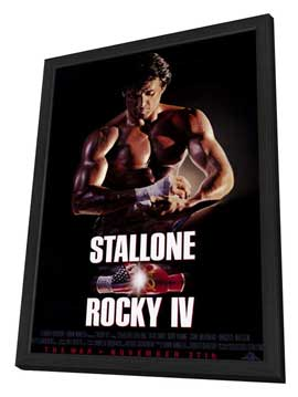 Rocky 4 - 11 x 17 Movie Poster - Style B - in Deluxe Wood Frame