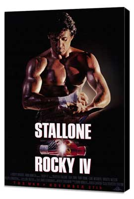 Rocky 4 - 11 x 17 Movie Poster - Style B - Museum Wrapped Canvas