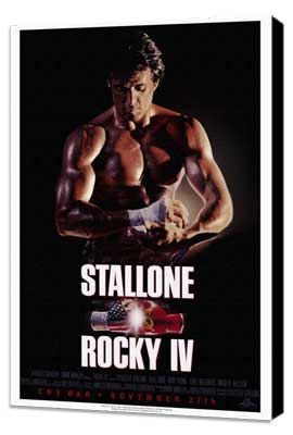 Rocky 4 - 27 x 40 Movie Poster - Style B - Museum Wrapped Canvas