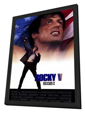 Rocky 5 - 27 x 40 Movie Poster - Style A - in Deluxe Wood Frame