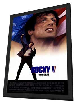 Rocky 5 - 11 x 17 Movie Poster - Style A - in Deluxe Wood Frame