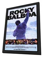 Rocky Balboa - 27 x 40 Movie Poster - Style C - in Deluxe Wood Frame