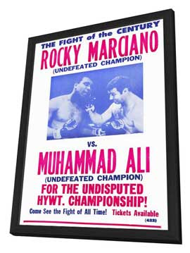 Rocky Marciano vs Muhammad Ali - 11 x 17 Boxing Promo Poster - Style A - in Deluxe Wood Frame