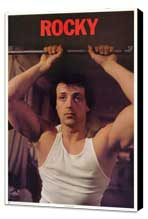 Rocky - 27 x 40 Movie Poster - Style E - Museum Wrapped Canvas