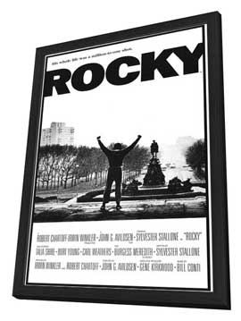 Rocky - 11 x 17 Movie Poster - Style A - in Deluxe Wood Frame