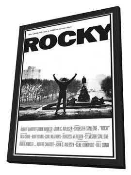 Rocky - 27 x 40 Movie Poster - Style A - in Deluxe Wood Frame
