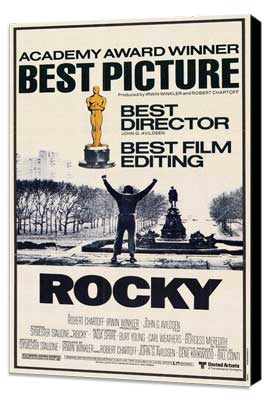 Rocky - 11 x 17 Movie Poster - Style D - Museum Wrapped Canvas