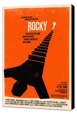 Rocky - 11 x 17 Movie Poster - Style L - Museum Wrapped Canvas