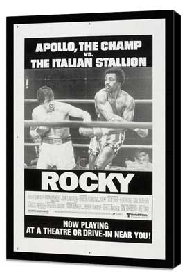 Rocky - 11 x 17 Movie Poster - Style M - Museum Wrapped Canvas